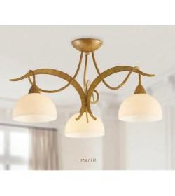 Plafoniera 3 luci ferro battuto 1720/3 PL Via Dese Lam Export