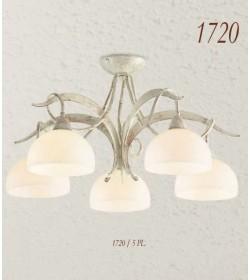 Plafoniera 5 luci ferro battuto 1720/5 PL Via Dese Lam Export