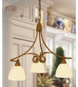 Lampadario 3 luci ferro battuto 1730/3 Via Dese Lam Export