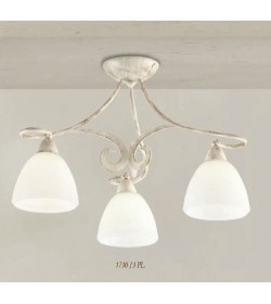 Plafoniera 3 luci ferro battuto 1730/3PL Via Dese Lam Export