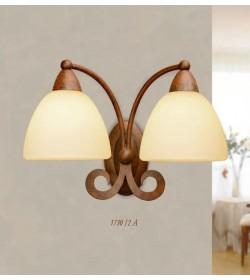 Applique 2 luci in ferro battuto 1730/2A Via Dese Lam Export