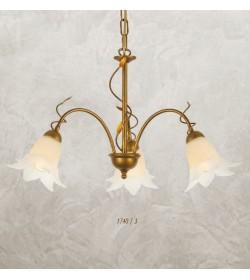 Lampadario 3 luci ferro battuto 1740/3 Via Dese Lam Export