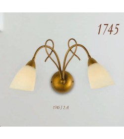 Applique 2 luci in ferro battuto bronzo 1745/2A Via Dese Lam Export