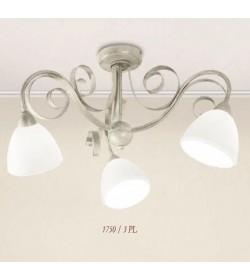 Plafoniera 3 luci ferro battuto 1750/3PL Via Dese Lam Export