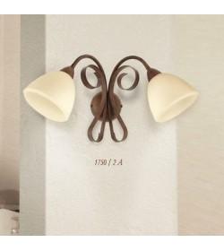 Applique 2 luci ferro battuto 1750/2A Via Dese Lam Export