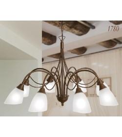 Lampadario 8 luci ferro battuto 1780/8 Via Dese Lam Export