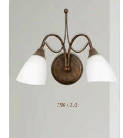 Applique 2 luci in ferro battuto 1780/2A Via Dese Lam Export