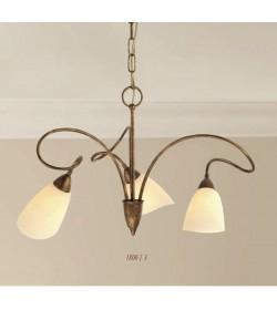 Lampadario 3 luci ferro battuto 1800/3 Via Dese Lam Export
