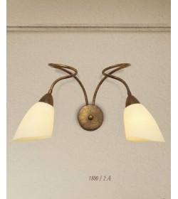 Applique 2 luci in ferro battuto 1800/2A Via Dese Lam Export