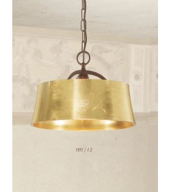 Sospensione ferro foglia oro 1895/1S Via Dese Lam Export