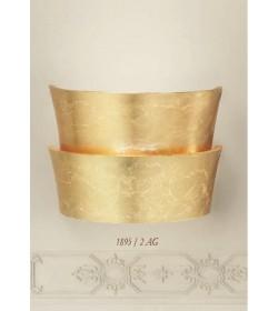 Applique classica vetri foglia oro 1895/2AG Via Dese Lam Export