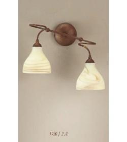 Applique 2 luci in ferro terra antica 1920/2A Via Dese Lam Export