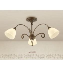Plafoniera 3 luci in ferro battuto 1945/3PLG Via Dese Lam Export
