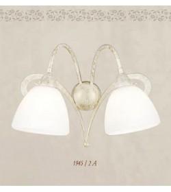 Applique 2 luci in ferro battuto 1945/2A Via Dese Lam Export
