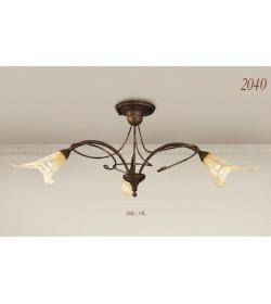 Plafoniera 3 luci in ferro battuto 2040/3PL Via Dese Lam Export