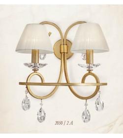 Applique 2 luci in ferro battuto 2050/2A Via Dese Lam Export
