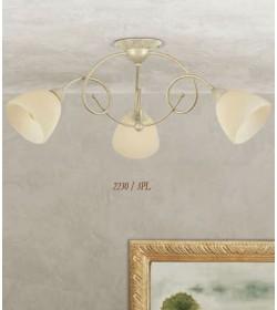 Plafoniera 3 luci in ferro 2230/3PL Via Dese Lam Export