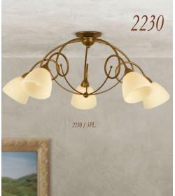 Plafoniera 5 luci in ferro 2230/5PL Via Dese Lam Export