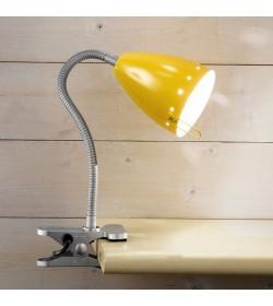 Lampada con pinza gialla...
