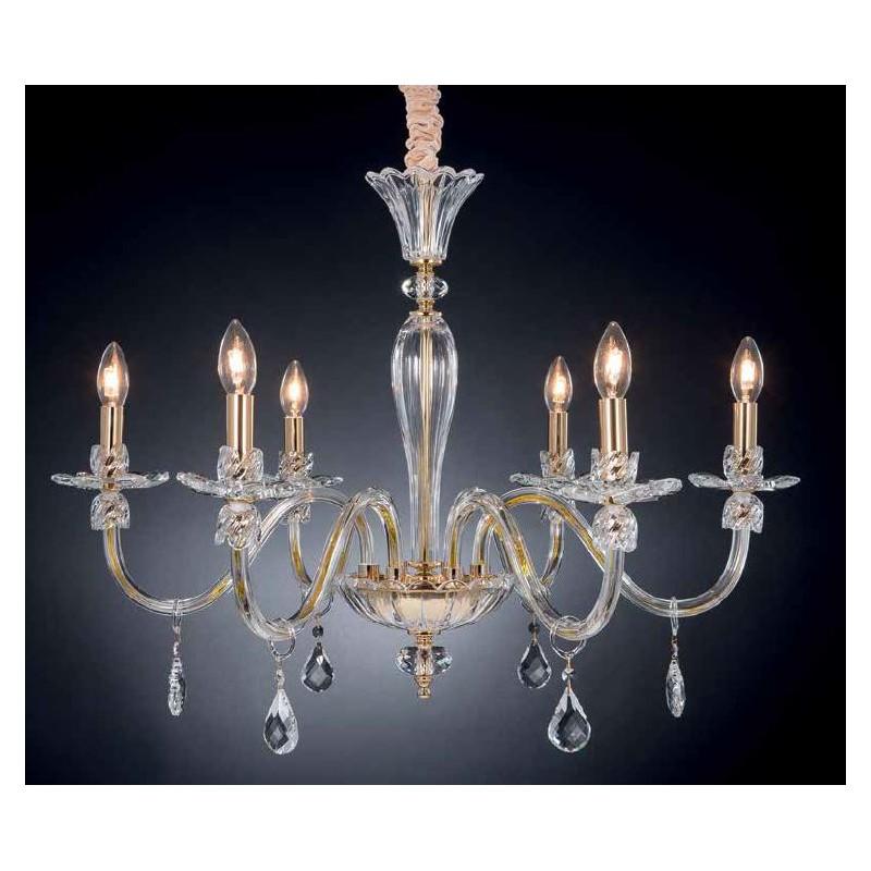 Lampadari In Cristallo Classici.Lampadario Classico Dalila In Cristallo Luxart Colore Cromo Numero Luci 3 Luci