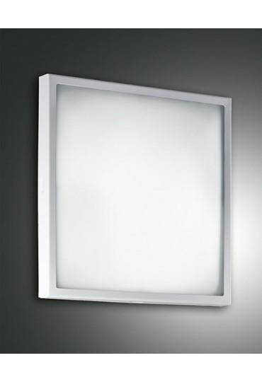 Plafoniera Led 30x30.Plafoniera Led Osaka 30x30 Bianco Fabas Luce