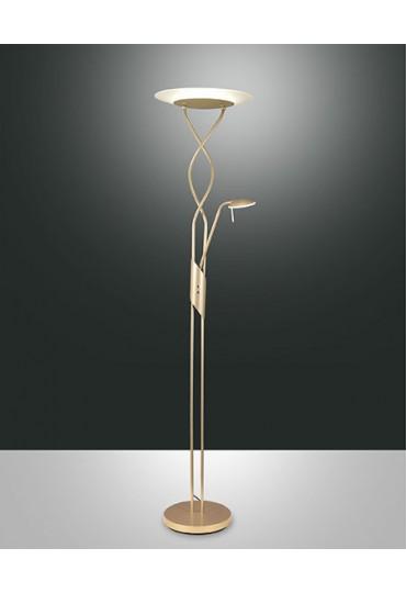 Piantana Led Cortina con lampada lettura oro 3375-10-225 Fabas Luce