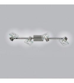 Faretto Square 4 luci 1031/F4