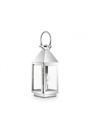 Lampada Lanterna Da Tavolo Mermaid Tl1 Small Cromo Ideal Lux