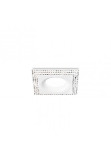 Faretto da incasso bianco opaco con strass GFA211 Gea luce