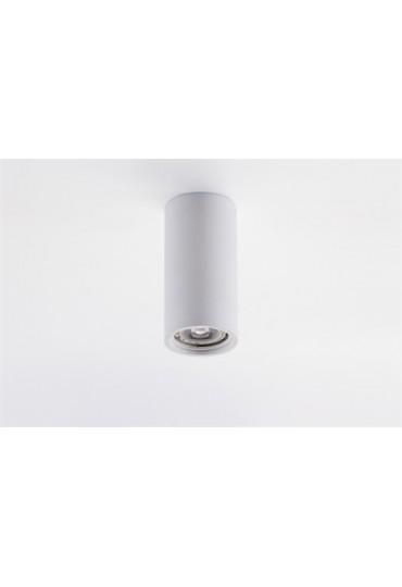 Spot cilindrico grande in gesso da soffitto