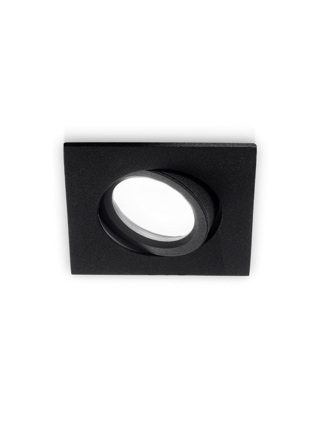 Faretti Da Incasso Legno faretto da incasso quadrato orientabile nero gfa052 gea led