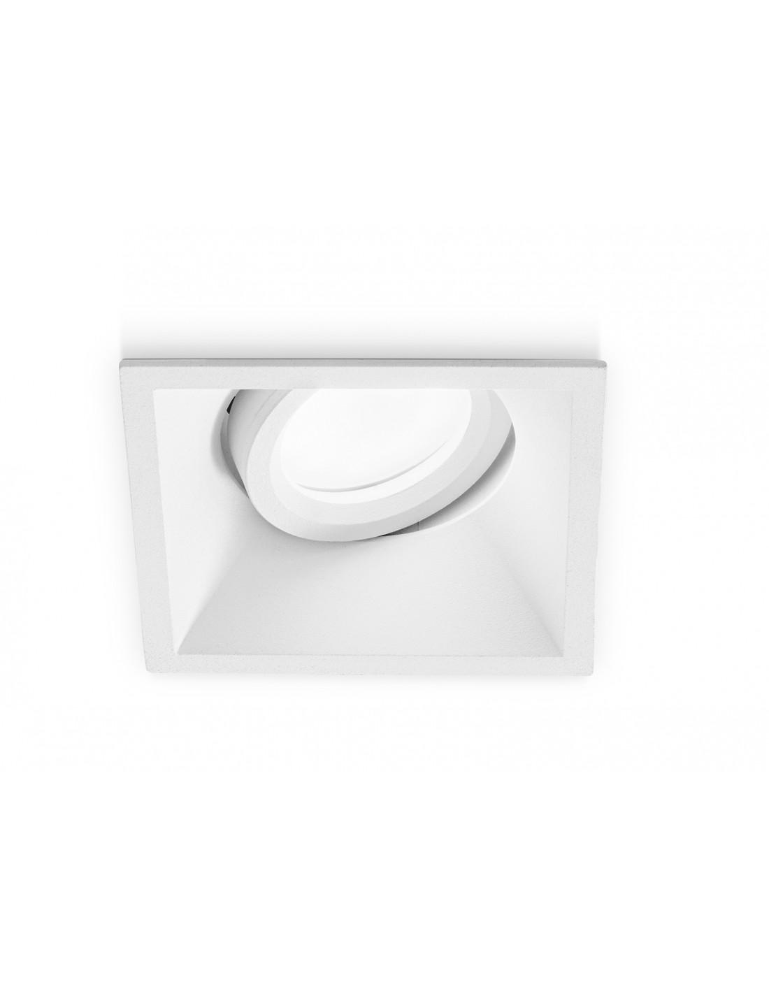 Faretti Da Incasso Legno faretto da incasso quadrato orientabile bianco gfa240 gea led