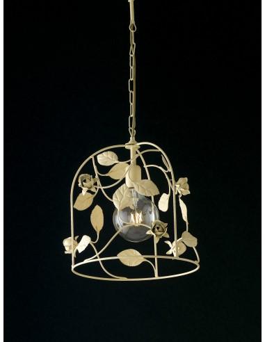 Lampadari Arte Povera Prezzi.Lampadario 1 Luce In Ferro Avorio Jane Be Light
