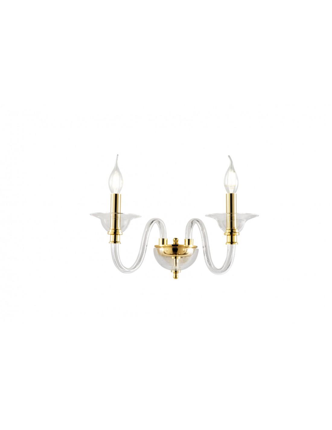 Lampade Da Soffitto Per Taverna lampada da parete 2 luci in vetro tebe ondaluce ciciriello colore fumè