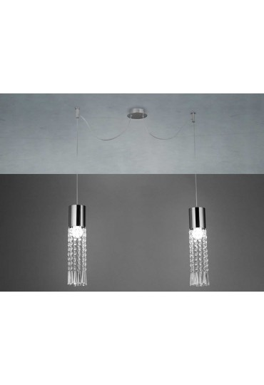 Sospensione Queen 2 luce GD0174/2S Gd Service by Lam export
