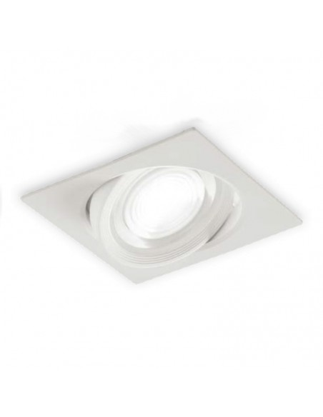 Faretto Da Incasso Quadrato Orientabile Mizar Led 6,5w 4000k 38° Intec Light