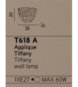 Perenz Applique Tiffany T618 A L26cm 1 Luce