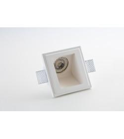 Faretto quadrato in gesso da incasso con luce 45° per controsoffitto