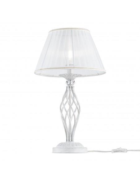 Lampada Da Tavolo Grace Bianco Oro 1xe14 O32cm Maytoni