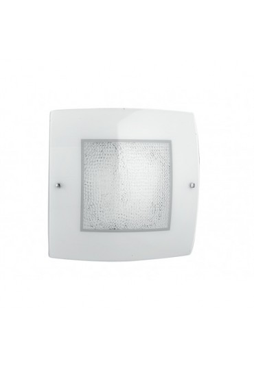 Plafoniera Led Trilogy 30 cm vetro con cristalli Fan Europe