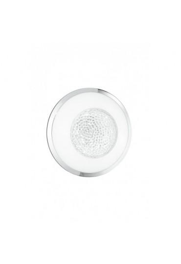 Plafoniera Tiffany tonda Ø 30 vetro con cristalli Fan Europe