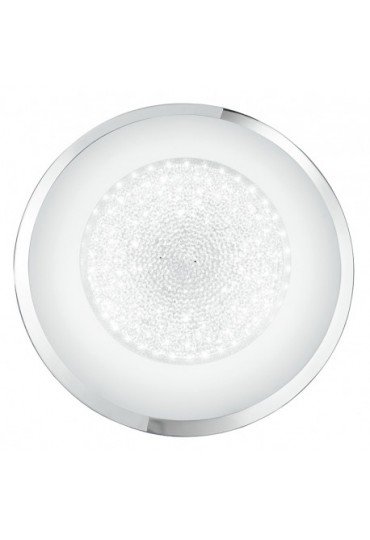 Plafoniera Tiffany tonda Ø 60 vetro con cristalli Fan Europe