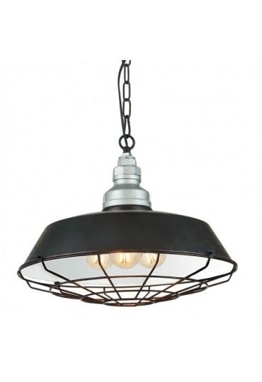 Sospensione Bazar metallo e alluminio 3 luci Fan Europe