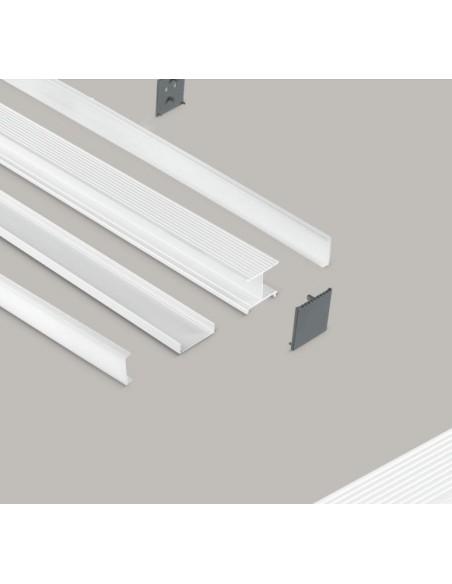 Profilo In Alluminio Da Superficie Per Strip Led 1 Metro GSTB01 Gea Led