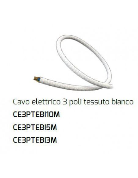 Cavo Elettrico 3 Poli Bianco Per Plafone Componibile Fuel Gasoline Top Light