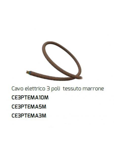 Cavo Elettrico 3 Poli Marrone Per Plafone Componibile Fuel Gasoline Top Light