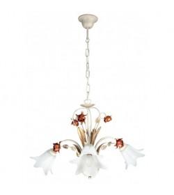 Sospensione Rose metallo decorato 3 luci Fan Europe