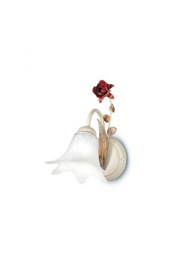 Applique Rose metallo decorato 1 luce Fan Europe