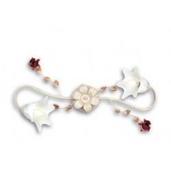 Plafoniera Rose metallo decorato 2 luci Fan Europe