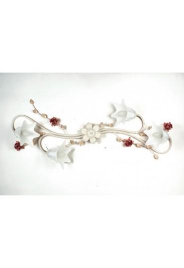 Plafoniera Rose metallo decorato 4 luci Fan Europe
